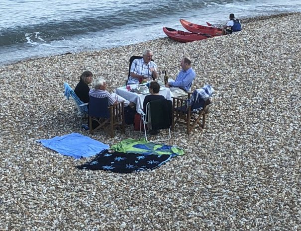 Dining on the Beach